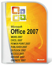 Microsoft Office 2007 Word/Excel/Outlook/Pub/Access/ 3 PC user  DVD full version