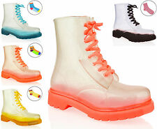 NEW LADIES WOMENS GIRLS FLAT ANKLE DOC WELLIES WELLY WATERPROOF BOOTS SHOES SIZE