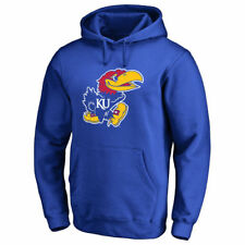 Kansas Jayhawks Royal Primary Logo Fleece Pullover Hoodie