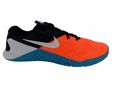 NEW MENS NIKE METCON 3 CROSS TRAINING SHOES TRAINERS HYPER ORANGE / WHITE / BLAC