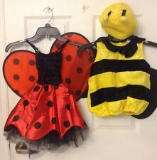 Infant Girl Costume Choose One Ladybug or Bumblebee Size XS 12 - 24 Months NWT