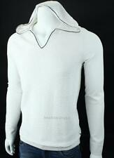 Armani Exchange A|X Mens Textured Hooded V Neck Logo Sweater NWT