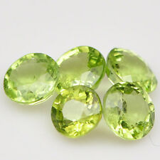 Natural Green Peridot Round Faceted Cut Calibrated Size 2mm - 5mm Loose Gemstone