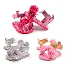 0-18M Newborn Baby Girls Sandals Casual Floral Soft Sole Summer Baby Crib Shoes