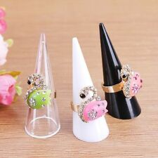 Finger Ring Display Shelf Acrylic Cone Jewelry Exhibition Stand Ring's Holder