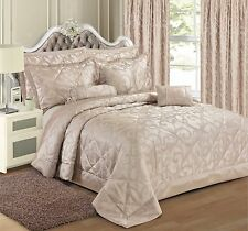 NEW STYLISH FLORAL SCROLL JACQUARD DUVET COVER LUXURY BEAUTIFUL DESIGNER BEDDING