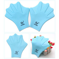 New Silicone Swimming Gloves Hand Webbed Frog Finger Fins Paddle Palm
