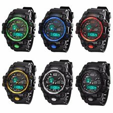 OHSEN Mens LCD Digital Analogue Date Alarm Waterproof Army Military Sport Watch