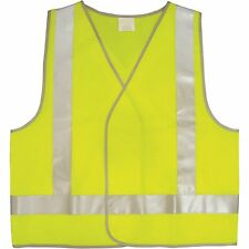 UniSafe LIME YELLOW HI-VIS DAY & NIGHT SAFETY VEST AustraliaMade Large XL or XXL