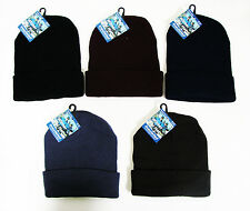 New Winter Ski Hat Knit Beanie Snow Watch Warm Stocking Cap Skully Solid, Colors