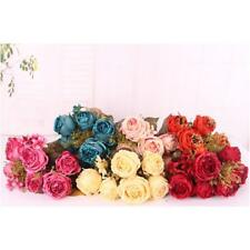 Autumn Artificial Fake Peony Flower Arrangement Home Hydrangea Decor 6 Colors