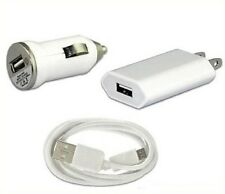 Mini Wall Adapter Kit Home Charger Micro Usb Cable+Car 5V iPhone Power Combo
