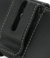 PDair Black Leather Horizontal Pouch for HTC Touch HD