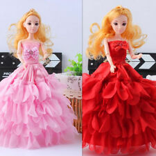Handmade Wedding Party Bridal Gown Princess Dress Clothes for Barbie Doll Xmas