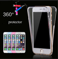 360° TPU Silicone Protective Cover Rubber Front Back Transparent Case for iPhone