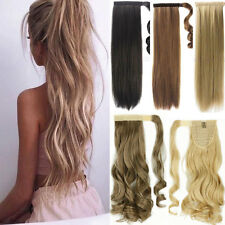 Clip In Hair Extension wrap around clip on in ponytail hair natural as real made