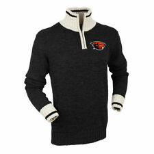 Bruzer Oregon State Beavers Black Quarter-Zip Sweater - College