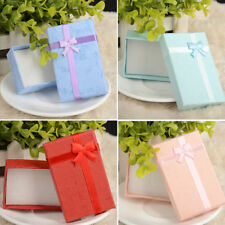 6PCS/Lot Bowknot Jewelry Box Pendant Necklace Earrings Ring Gift Paper Case