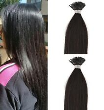 "18"",22"" 100grs,100s,I Tip (Stick Tip) Fusion Remy Human Hair Extensions #1B"