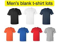Wholesale Lot of 12 Men's blank gildan t-shirts. Available in various colors.