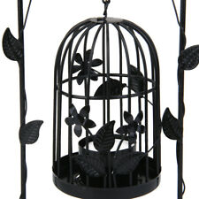 Vintage Metal Arch Door Birdcage Candle Tea Light Holder Candlestick 2 Colors
