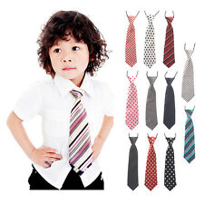 Cool School Boy Girl Kid Elastic Neck Tie Toddler Children Wedding Party Necktie