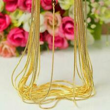 DIY 1.2 Mm 18K Yellow Gold Filled Snake Chain Necklace Jewelry 16-30 Inch