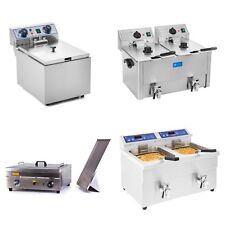 NEW PROFESSIONAL FRYER DEEP FAT FRYER STAINLESS STEEL ELECTRIC GAS AND COLD ZONE
