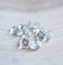 4mm - 8mm NATURAL WHITE TOPAZ CUSHION FACETED CUT LOOSE GEMSTONE WHOLESALE LOT