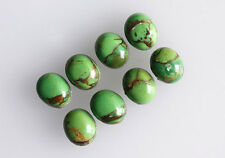 Green Copper Turquoise 10x8MM Oval Shape, Calibrated Cabochons AG-213