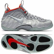 Nike Air Foamposite Pro Premium 616750-003 Pure Platinum/Grey/Crimson Men Shoes