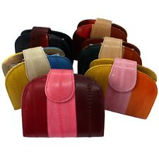 Genuine Eel Leather HalfMoon Wallet Purse Mixed Color (5 Type)