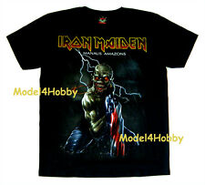 IRON MAIDEN T-Shirt Black Size M L XL MANAUS AMAZONS HM MONSTER FLAG LIGHTNING