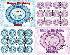 EDIBLE LIL CUPCAKE CAKE IMAGE  BOY OR GIRL  BIRTHDAY  ICING SHEET  PARTY  TOPPER