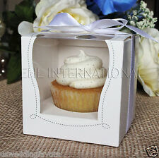 25/50/100 White Cupcake Muffin Cake Boxes Party Shower Favor Gift Container 3.5""