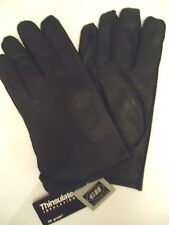 Mens Glacier Thinsulate Genuine Leather Gloves,Black, Style 789C