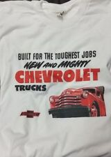 Men's Silver White 1951 New Mighty Chevrolet Trucks Graphic Tee T Shirt L XL 2X