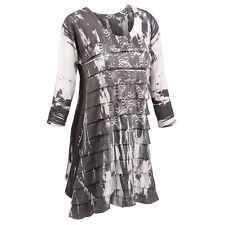 Tunic Top - Layers Of Feathers Ruffled Black and White Shirt