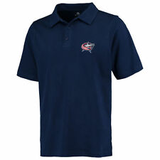 Fanatics Branded Columbus Blue Jackets Navy Primary Embroidered Polo