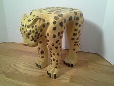 """Realistic Looking Leopard Plant Stand 11"""" Tall Yellow Black Natural Rare"""