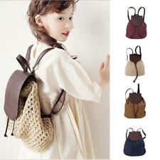 Women's Girls Kids Casual Straw Backpack Rucksack Holiday Beach Shoulder Bag