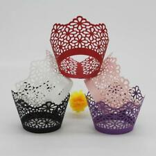 50x Cupcake Liners Wrapper Cake Baking Cup Wrap Case Laser Cut Cake Cup 4 Color