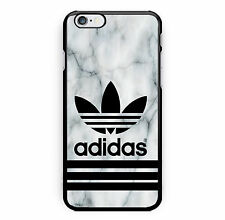 Adidas Marble White Logo Print Hard Plastic Case For iPhone 7 5/5s 6/6s & 7 Plus