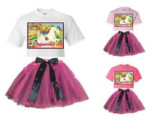 """""""Rainbow Brite"""" Personalized White or Pink T-Shirt & Pink&BlackTutu-NEW"""
