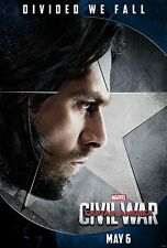 Captain America Civil War Bucky Winter Soldier Giclee Print Movie Poster