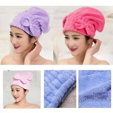 Multi-color Coral  Velvet Quick Dry Cap Bow Hair Towels Drying Wrap