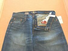 NWT Lucky Brand Men 221 Original Straight Fit/Leg Zip Fly Faded Blue Jean