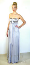 NEW Silver Silk Cocktail Dress Strapless Formal Dress New Years Eve Gown 12