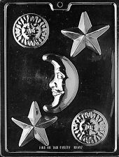CELESTIAL ASSORTMENT STAR MOON Chocolate Candy Mold LOP-M147