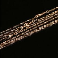 1/5/10 Pcs 18K Gold Plated Filled 2mm Belcher Chains Necklace 16 18 20 22 24''